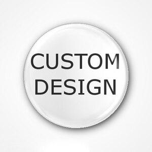 Image 1 - Badge à boutons personnalisé, 44x44mm, avec votre design, badge rond en fer blanc avec épingle, 20 pièces/lot