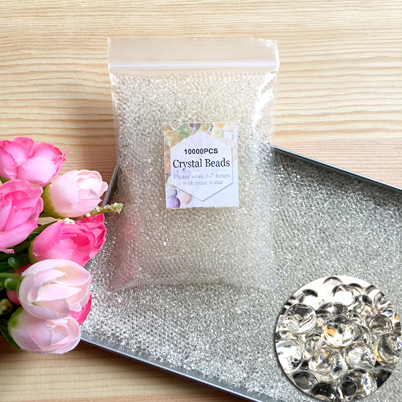 transparent Crystal Soil Hydrogel Gel Polymer Water Beads balls Flower/Wedding/Decoration Growing Water Balls Big Home Decor