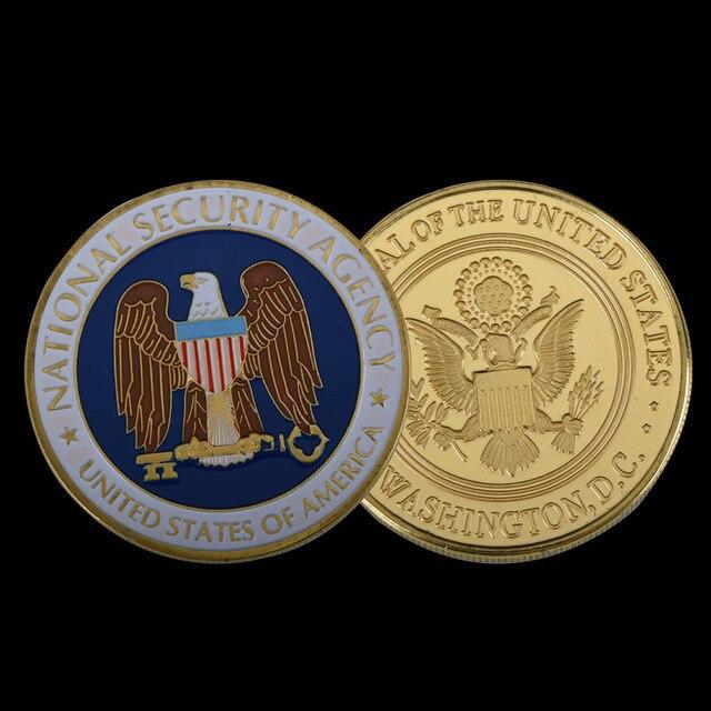 Wr Gold überzogene Münze Usa Nationalen Sicherheit Agentur Adler