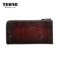 TERSE_Hot Selling Wallet Men Genuine Leather Long Wallet Bordeaux Red Crocodile Wallets Card Holder Zipper Purse T 8306 1