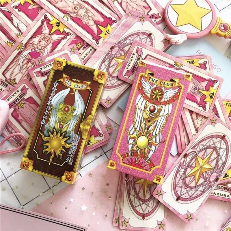 1 Unidades set Anime Sakura Cardcaptor Clow tarjeta cosplay prop KINOMOTO SAKURA tarjeta captor Sakura tarjetas Tarot