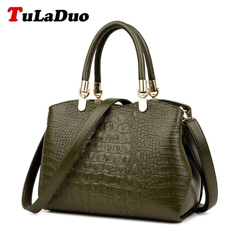 Ladies Alligator Handbags Vintage Shoulder Bag Brands Designer Handbag High Quality Women Luxury Crocodile Leather Tote Hand Bag