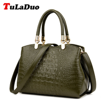 Ladies Alligator Handbags Vintage Shoulder Bag Brands Designer Handbag High Quality Women Luxury Crocodile Leather Tote