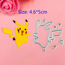 1pcs Pokemon Go metal Cutting Die+1PCS carft Tag for DIY Scrapbooking/photo album Decorative Embossing Paper Cards