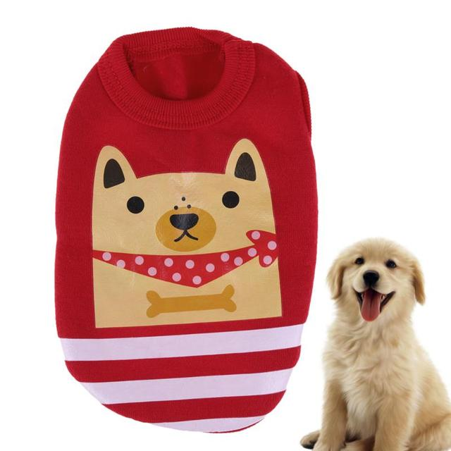 Colorful Pet Clothes Fall Milk Dog Fawn Dog Pet Vest Cute Animals Printed  Party Costume Pets - Colorful Pet Clothes Fall Milk Dog Fawn Dog Pet Vest Cute Animals