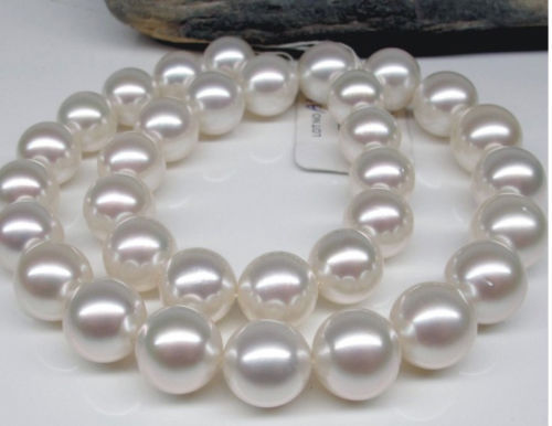 HUGE Natural 18 10-11mm Australia freshwater white ROUND pearl necklace 925silverHUGE Natural 18 10-11mm Australia freshwater white ROUND pearl necklace 925silver