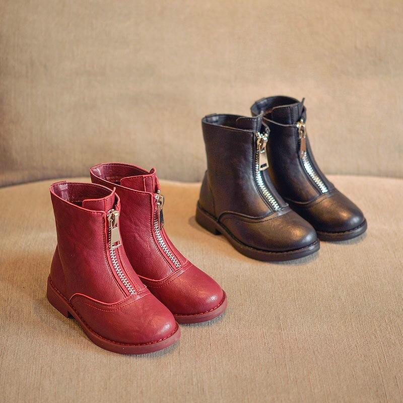 Nouvelles bottes pour enfants, bottes Martin, bottes en cuir princesse souple,