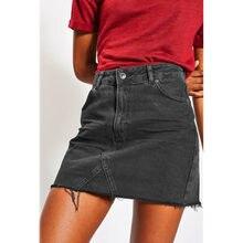 cd6f18ab Popularne Black Denim Mini Skirt- kupuj tanie Black Denim Mini Skirt ...