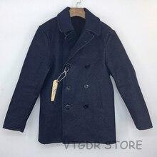 Мужская джинсовая куртка Bob Dong, темно синяя джинсовая куртка в стиле милитари, 32 унции, 740