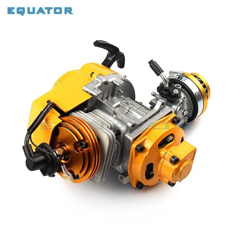 פעימות 49cc מנוע קירור אוויר עם מצת irridium C7, HP מלא מעגל גל ארכובה ומרוצים Carbutetor/סיטונאי מפעל