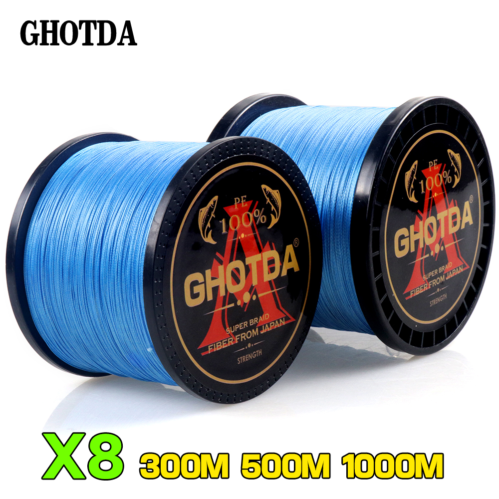 GHOTDA  300M 500M 1000M 8 Strands10-80LB PE Braided Fishing Wire Multifilament Super Strong Fishing Line Japan Multic