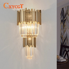 New Design Wall Light For Home Crystal Wall Lamp Luster Gold Applique Wall Fixture Modern Home LED Wall Lamp