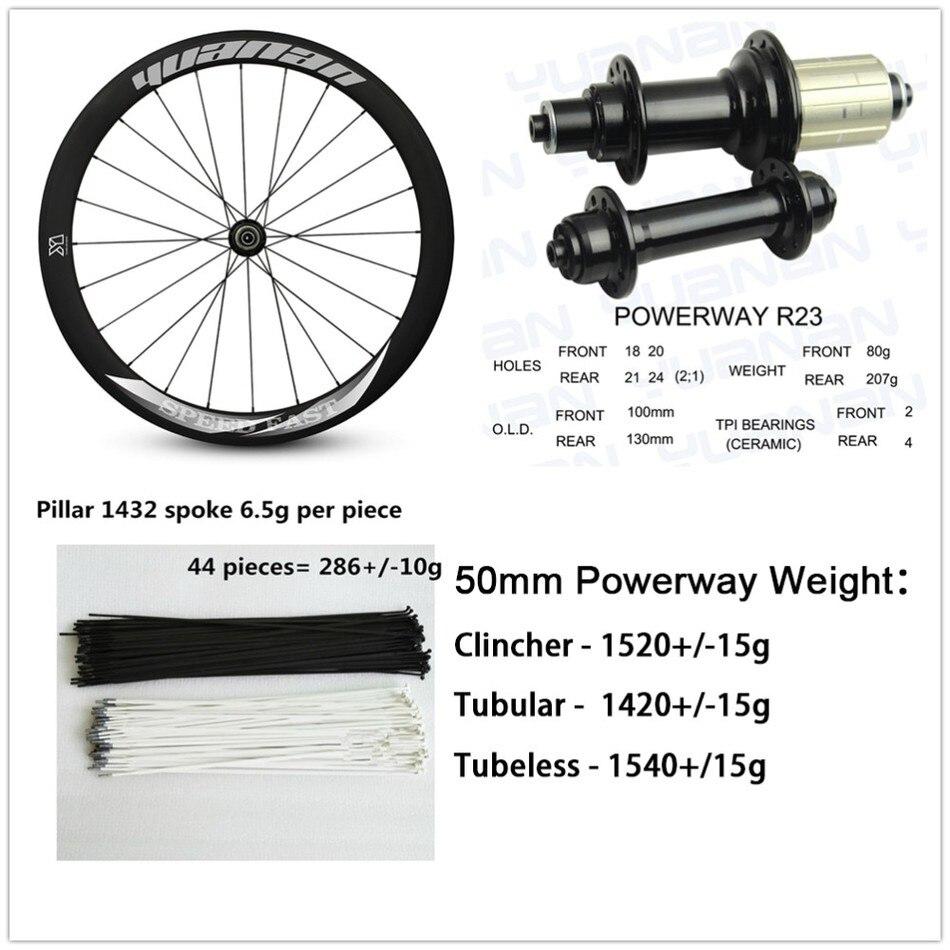 Cheap Carbon Road Bike Wheels 700c Aero U Shaple Rims With Upgrade