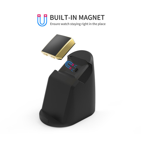 VOGEK Wireless Magnet Charger for Fitbit Lonic, USB Power Charging Dock Charger Station Cradle for Fitbit Watch & Phone Stand Islamabad