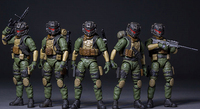 1/25 JOYTOY action model anime military soldiers figures set (5pcs/lot ) collectional toys PVC Christmas gift Free shipping