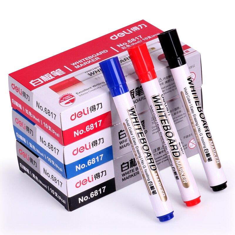 10 PCS/set whiteboard pen Water-based blackboard dry erasable marker pens drawing office school supplies white board pen