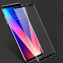 Полное покрытие экрана протектор стекло для LG V30 Plus V40 V20 V50 K40 G6 G7 G8 закаленное стекло Взрывозащищенная Передняя пленка