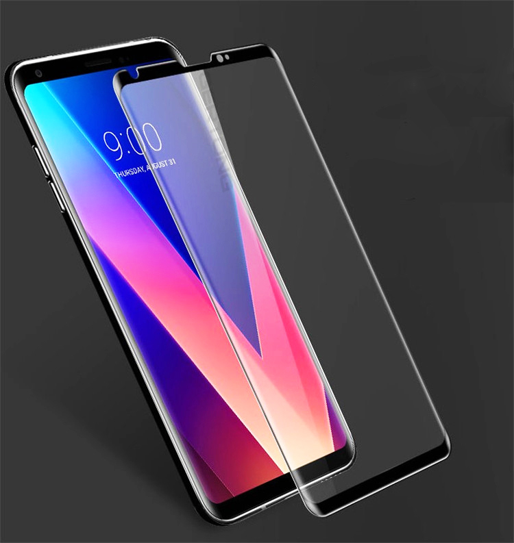 Full Cover Screen Protector Glass For LG V30 Plus V40 V20 V50 K40 G6 G7 G8 Tempered Glass Explosion-proof Front Film