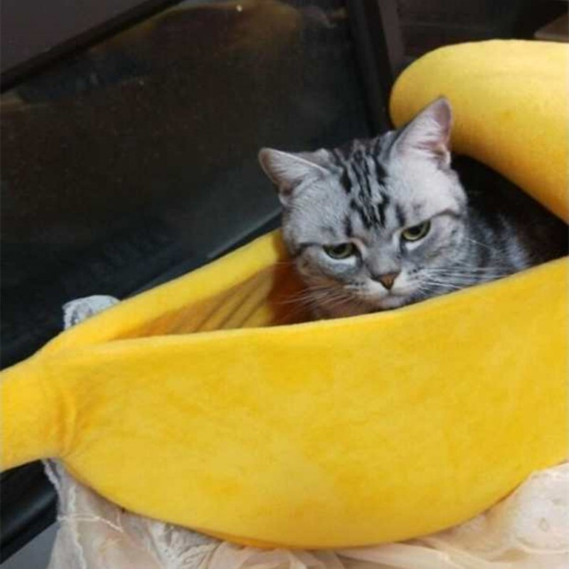 Lovely Creative Banana Shaped Dog/cat House Soft Warm Kennel  Sleeping Bed  House Tent Pet Supply Dogs/cats Accessories #5
