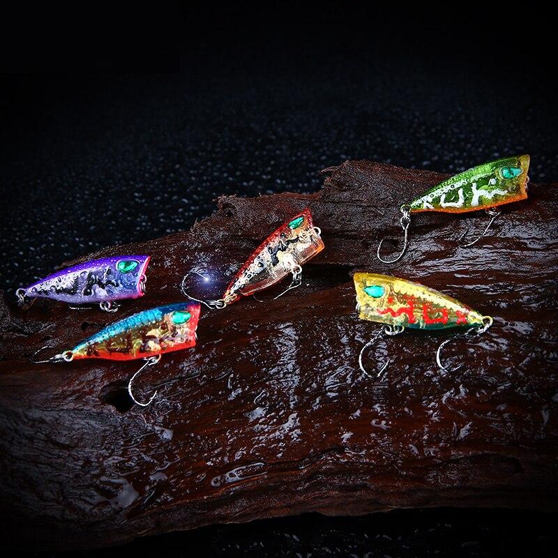 4 cm 3g Döküm Yapay Sert Yem Poper Balıkçılık Cazibesi 10 Renk - Balık Tutma - Fotoğraf 3