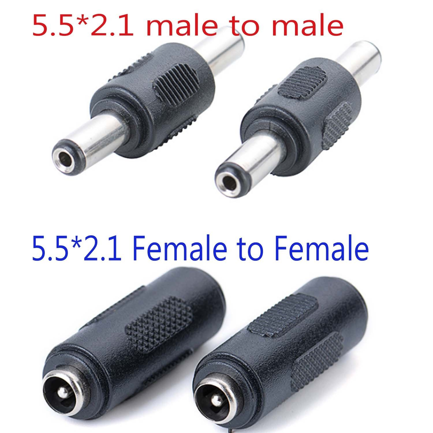 5.5mmx2.1mm Female to Female male to male DC CCTV Power Coupler Adapter Adaptor