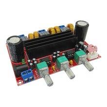 2.1 canais placa de amplificador de potência digital de 12 V-24 V tensão larga TPA3116D2 2*50 W + 100 W placa de amplificador de potência