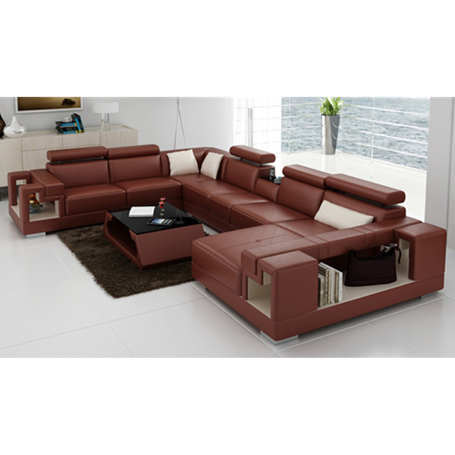 U Bentuk Ukuran Besar Sofa Ruang Tamu