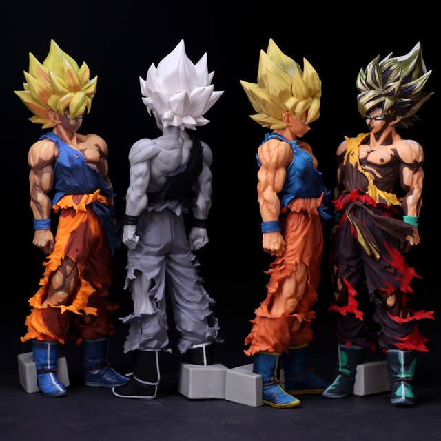 Dragon Ball Z Figurines Son Goku Super Saiyan Dessin Animé Couleur Anime Dragon Ball Z Jouet Dbz à Collectionner Modèle Jouets 350mm
