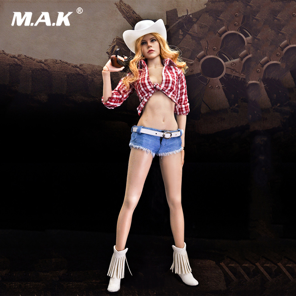 PH doll clothing set 1/6 Jessica Fox Sexy Cow Girl Suits Female 12 inches Action Figure Toys Set jessica farm 1