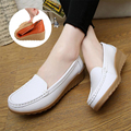 Genuine Leather Women Casual Shoes Wedges Shoes Anti-skid Tendon Flats Slip-On Soft Nurse Shoes Woman Oxfords zapatos mujer