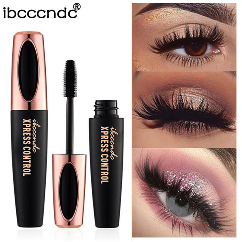 New 4D Silk Fiber Lash Mascara Waterproof Rimel 3d Mascara For Eyelash Extension Black Thick Lengthening Eye Lashes Cosmetics 60pcs lot roller eye lash black mascara curling full volumizing mascara real beyond mascara black 8 5g eyelash extension