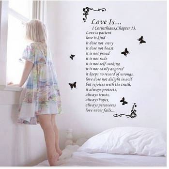 The Bible Love Is Love English Poem Simple European Style