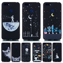 Slim Silicone Case on for Huawei Honor 7A 7C Pro 7X 8A 8C 8X Max 10 8 9 Lite Case Astronaut Space Moon Planet Soft TPU Cover(China)