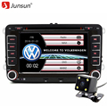"Junsun 7 ""2 Din Windows Ce Car DVD GPS Radio Player para Volkswagen VW golf 5 6 Passat B6 Touran Sharan Jetta Polo Tiguan"