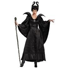 ליל כל הקדושים מכשפה רעה גלגוליו תלבושות שינה יופי קרנבל קוספליי תלבושת למבוגרים נשים כהה מלכת פנטזיה תחפושת