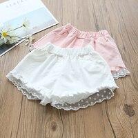 תינוק קיץ בנות חדשים 2018 מכנסיים חמים מכנסי תחרה תחרה האופנה ילדים ילדי מכנסיים קצרים תינוק