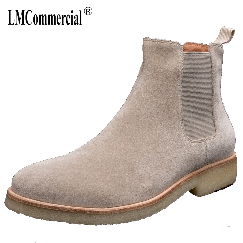 Genuine Leather autumn winter British Chelsea boots men all-match cowhide breathable casual shoes male men's Martin boots new winter boots martin male tide high velvet warm shoes men british short boots all match cowhide cashmere men s casual shoes