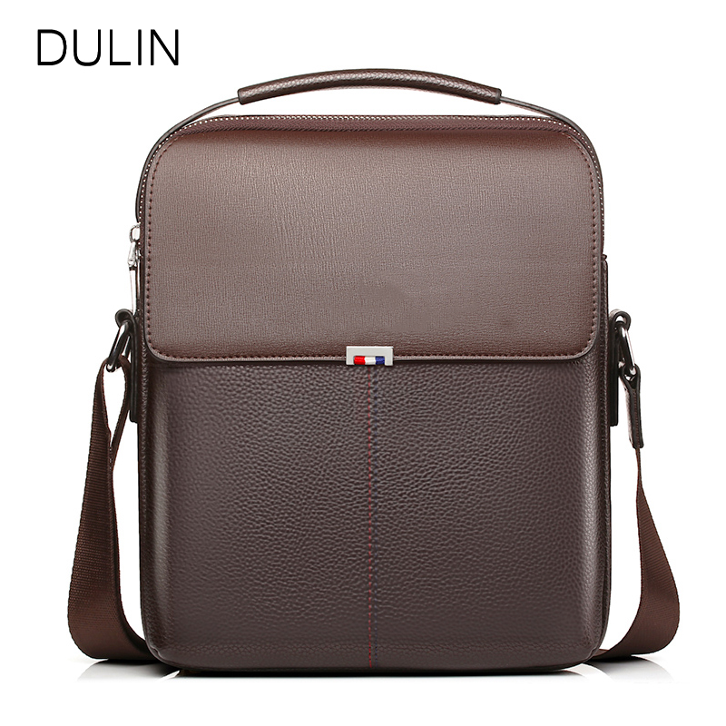 DULIN Cow Leather Messenger Bags Men Travel