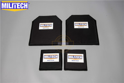 MILITECH 10 x 12 & 6 x 6 Inches Pairs Aramid Ballistic Panel Bullet Proof Plate Inserts Body Armor Soft Armour NIJ Level IIIA 3A