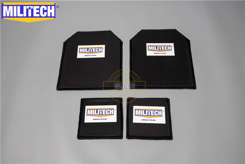 MILITECH 10 X 12 & 6 X 6 Inches Pairs Aramid Ballistic Panel Bulletproof Plate Body Armour NIJ Level 3A 0101.06 &NIJ 0101.07 HG2