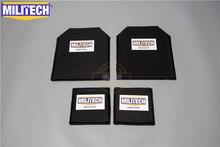 MILITECH 10x12 и 6x6 дюймов пары Aramid баллистическая панель пуленепробиваемая пластина корпус Броня NIJ уровень 3A 0101,06 & NIJ 0101,07 HG2