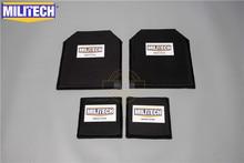 MILITECH 10x12 & 6x6 סנטימטרים זוגות ארמיד בליסטי פנל Bulletproof צלחת גוף שריון NIJ רמת 3A 0101.06 & NIJ 0101.07 HG2