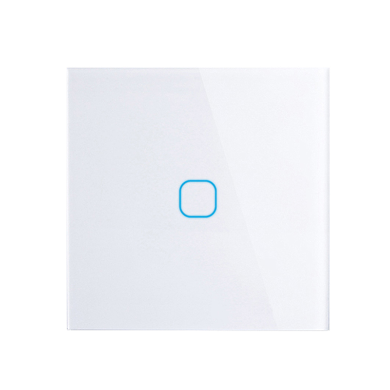 EU/UK standard Touch Switch White Crystal Glass Panel Touch Switch, AC220V, EU 1 Gang 1Way Light Wall Touch Screen Switch eu uk standard touch switch 3 gang 1 way crystal glass switch panel remote control wall light touch switch eu ac110v 250v