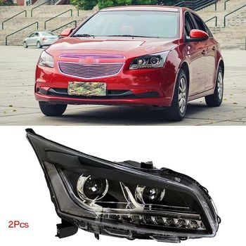 Dynamic Turn Signal LED Headlight DRLs Bi Xenon Projector Lens Fit For Chevrolet Cruze 2015