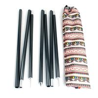 2pcs/set 1.5m Outdoor Camping Tent Pole Aluminum Alloy Tent Rod Spare Replacement Tent Support Poles Tent Accessories