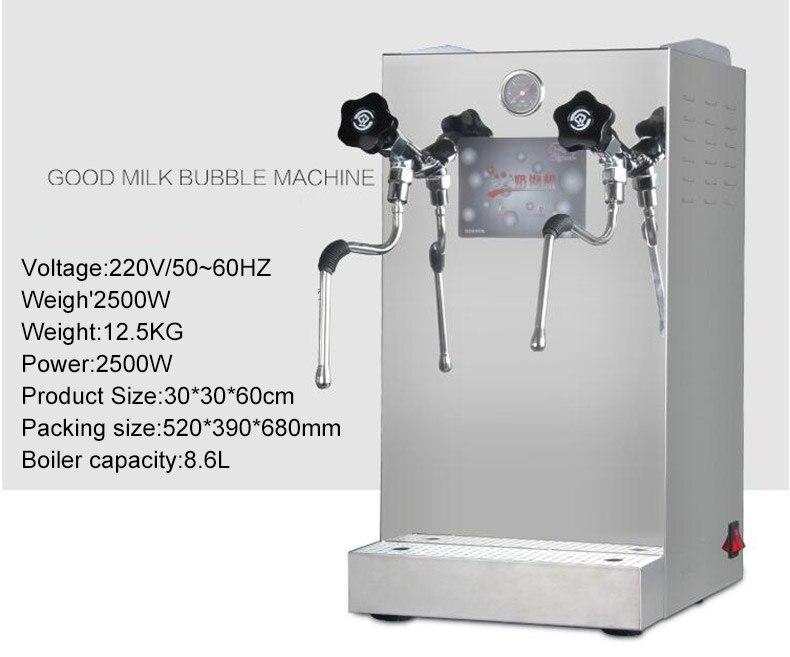 Xeoleo 8.6L Milch blase maschine Wasser kessel maschine Kaffee dampf ...