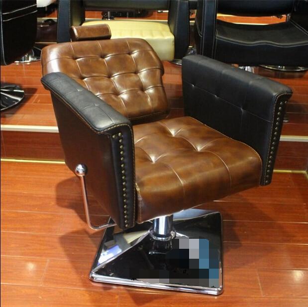 Salon de coiffure européen dédié à la chaise de coiffure chaise de coupe de cheveux reconstituant des manières antiques