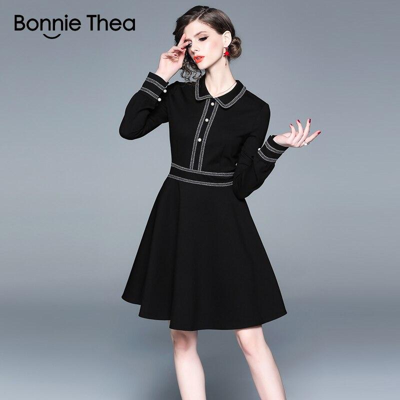 9217e3d05ee215 Abito Di Corto Da Elegante Bonnie Colore 2019 Il Inverno Delle D'ufficio  Signora Autunno Thea Del Donna Vestito Abbigliamento Donne Lavoro ...