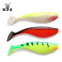 W.P.E Brand 6pcs/pack 100mm Silicone Soft Lure Swim Bait Jigging Body Artificial Wobbler Fishing Tackle