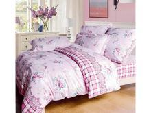 Комплект постельного белья двуспальный-евро СайлиД, A, розовый, с рисунком